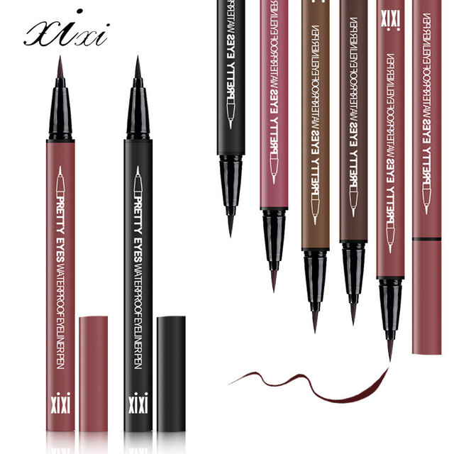 Professional Fast Dry Smooth Waterproof Eyeliner Pencils Eyes Brown Black Color Pigments Liquid Eye Liner Pen Make Up Tools 2