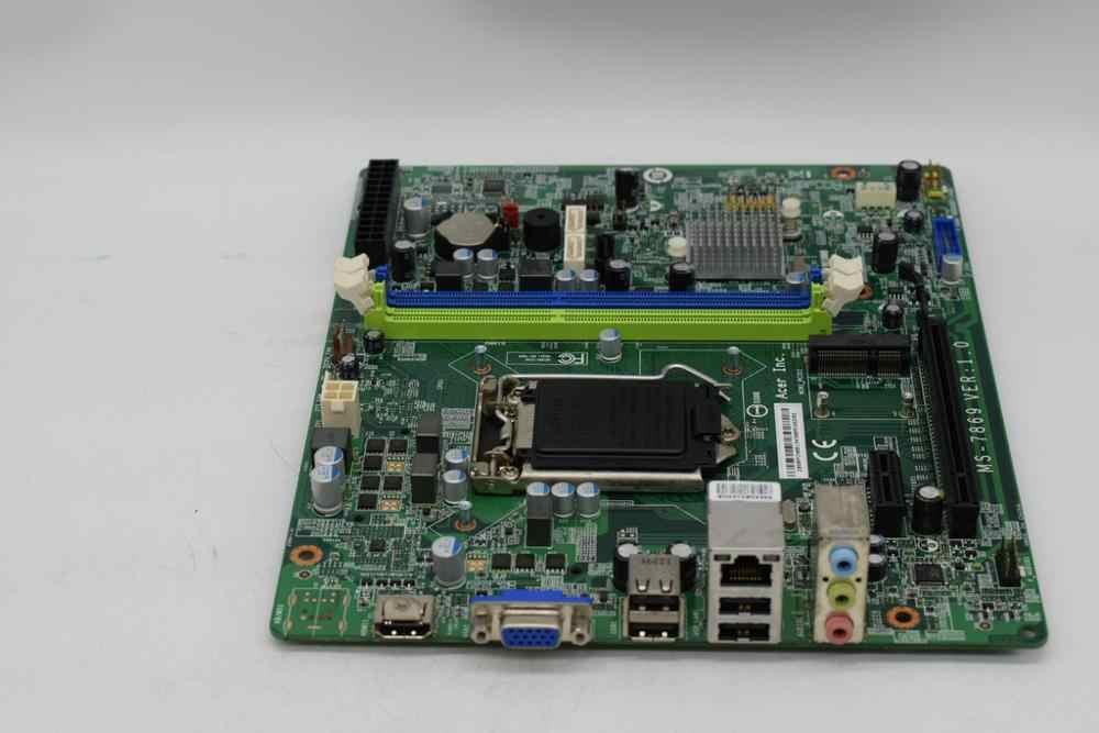 Dành cho LAPTOP ACER Getway SX2885 Để Bàn Bo Mạch Chủ MS-7869 DBSRRCN001 LGA1150 Mainboard với SATA3 USB3 MINI PCI-E