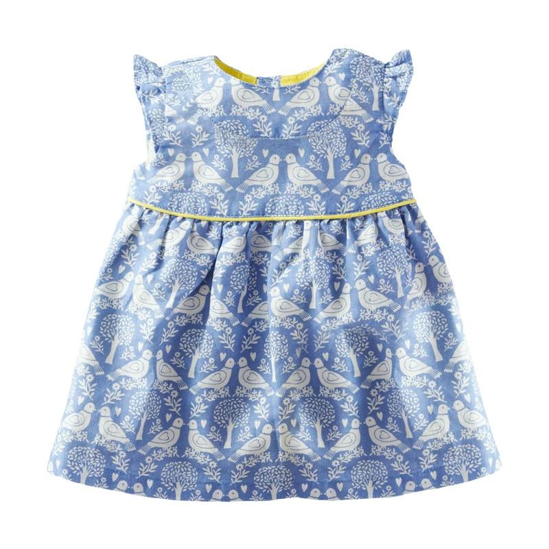 Little Maven 2-7Years Summer Lace Sleeves Dress Girl Princess Costume Children's Kids Toddler Bird Vestidos Elegant Frocks Dress