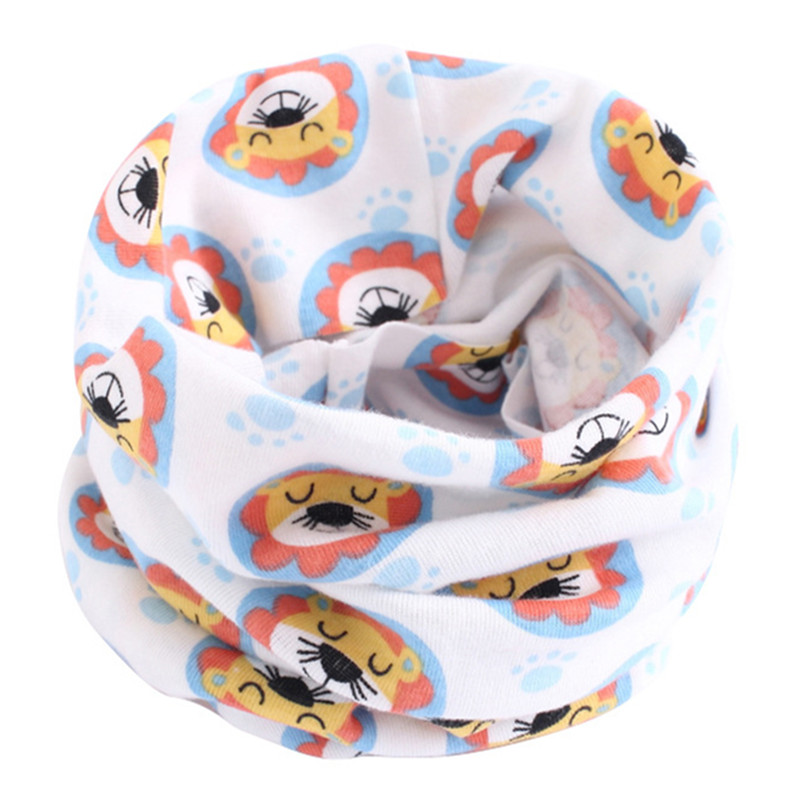 Весенне-осенне-зимний детский хлопковый шарф для От 0 до 10 лет, Детские шарфы с героями мультфильмов, модный теплый воротник - Цвет: 47