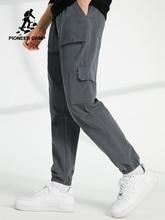 פיוניר מחנה אימון מכנסיים אצן גברים Loose Streetwear 100% כותנה מקרית מסלול מכנסיים מטען מכנסיים לזכר AXX902322