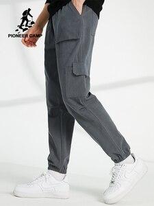 Image 1 - Pioneer Kamp Workout Jogger Broek Mannen Losse Streetwear 100% Katoen Casual Track Broek Cargo Broek voor Mannelijke AXX902322