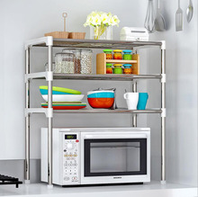 Multi-functional Kitchen Storage Shelf Counter Stand Rack Holders Microwave Oven Shelf Stainless Steel Adjustable