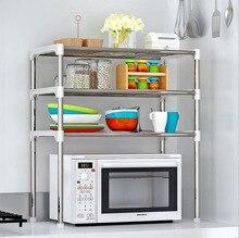 Multi-functional Kitchen Storage Shelf Table Stand Rack Holders Microwave Oven Shelving Stainless Steel Adjustable органайзер дл