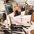 JIANWU 40 Pcs Leben Auszüge Serie Streifen Aufkleber Pack Schwarz Weiß Vintage Tagebuch Dekoration Material Aufkleber Schreibwaren Liefert