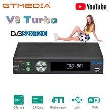 GTMEDIA V8 Turbo DVB-S2/S2X/T2/Kabel/J.83B Satellite Empfänger WIFI H.265 Unterstützung CA karte slot unicable multi-zimmer PK V8 Pro2