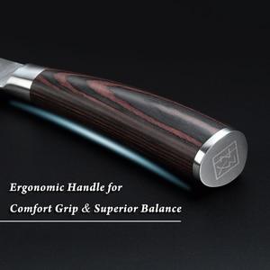 """Image 5 - KEEMAKE Professional 8.5 """"요리사 칼 독일 1.4116 강철 칼 부엌 칼 색깔 나무 손잡이 예리한 고기 절단기 요리사 칼"""