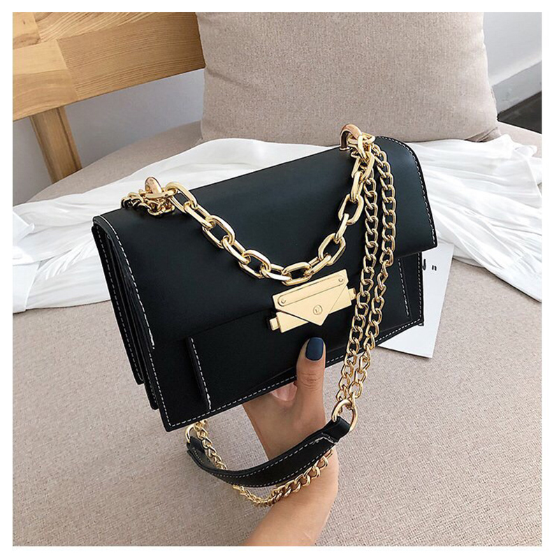 Women's Bag 2019 Luxury Contrasting Color Leather Handbag Women's Bag Designer One Shoulder Bag Evening Bag Cross-body Bag