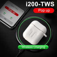 I200 TWS Bluetooth 5.0 słuchawki bezprzewodowe ładowanie zatyczki do uszu Pop-up zestawy słuchawkowe PK i20 i30 i60 i80 i90 i200 zabójca PK h1 W1 układu