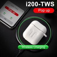 i200 TWS Bluetooth 5.0 Earphone Wireless Charging Earplug Pop up Headsets PK i20 i30 i60 i80 i90 i200 Killer PK H1 W1 Chip