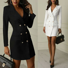Autumn Winter Suit Blazer Women 2020 New Casual Double Breas