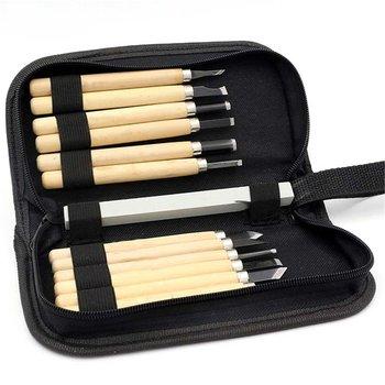 цена на 12Pcs/set DIY Pen Woodcut Knife Scorper Wood Carving Tools Woodworking Hobby Arts Crafts Nicking Cutter Graver Scalpel