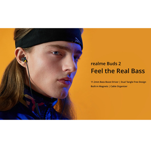 Image 5 - OPPO realme buds 2 earphone Built in Magnes 11.2mm Bass Boost Driver Dual Tangle Free Design for realme x x2 x2 pro 3