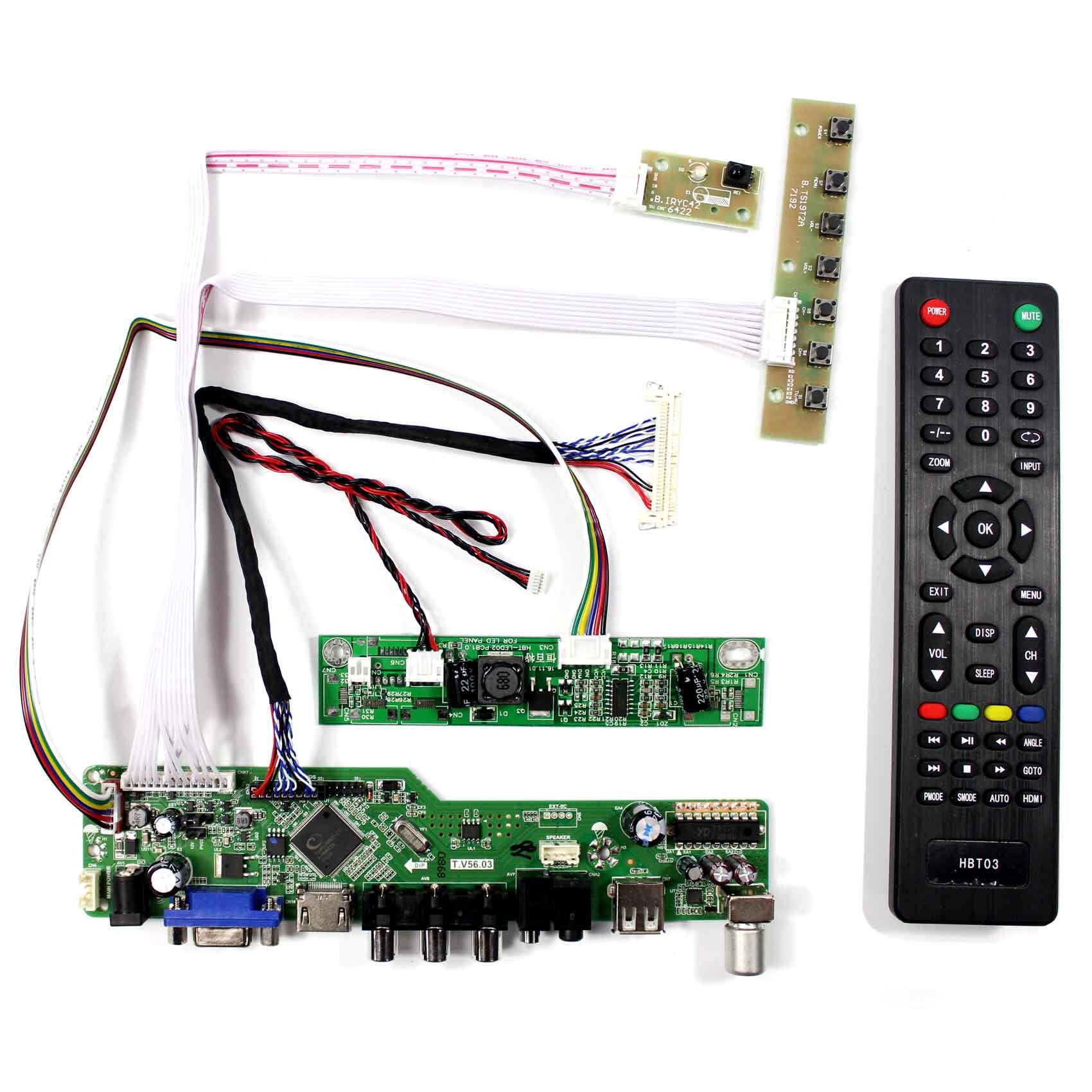 HDMI VGA DVI L1 Audio LCD Controller driver Board Kit For LM230WF3 SL
