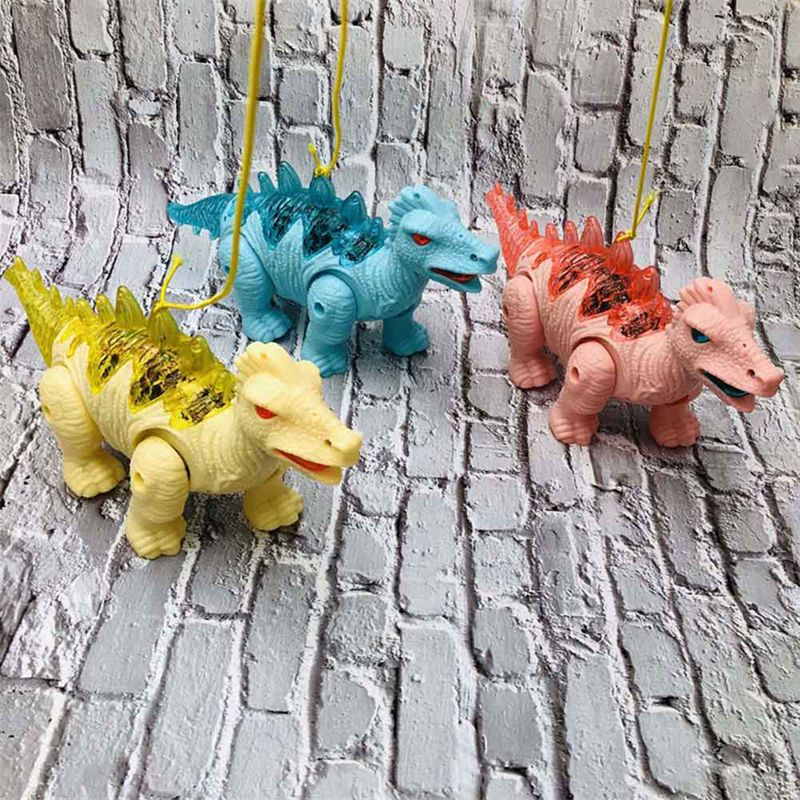 New Child Electric Light Sound Dinosaur Toy Walking Robot Interactive Stegosaurus Toy With Light And Roaring Sound Kids Model