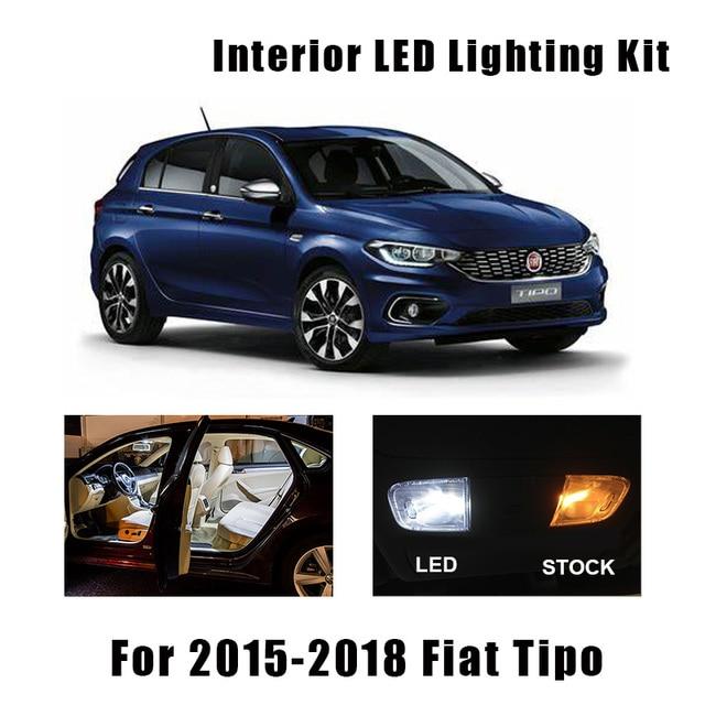 7pcs White Canbus Error Free LED Bulbs Interior Dome Reading Map Lights Kit For Fiat Tipo 2015 2016 2017 2018 Glove Box Light 1