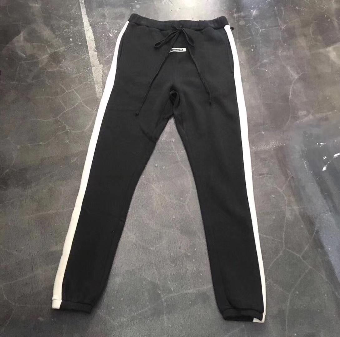 2019 FG ESSENTIALS Logo Printed Side Striped Women Men Track Pants Joggers White Striped Men Casual Sweatpants Jogger Trousers