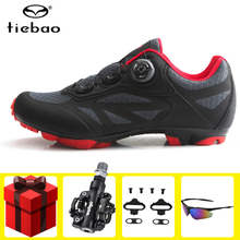Tiebao Cycling Shoes sapatilha ciclismo mtb Men Women Bicycle Self-Locking Mountain Bike Shoes Breathable Pedals Riding Sneakers tiebao sapatilha ciclismo mtb cycling shoes winter men sneakers women mtb bicicleta mountain bike shoes warm bicycle shoes