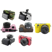 Soft Silicone Rubber Camera Protective Body Case Cover For Sony Alpha A6300 A6400 Camera Bags Case 8 Colors