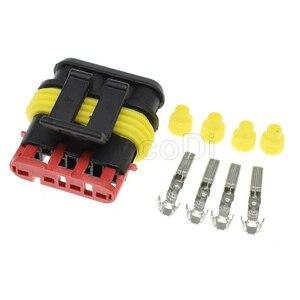 4-контактный разъем типа «папа» Superseal, 1/5/20 комплекта, 1,5 серии, автоматический водонепроницаемый провод PA66, 282106-1, 282088-1