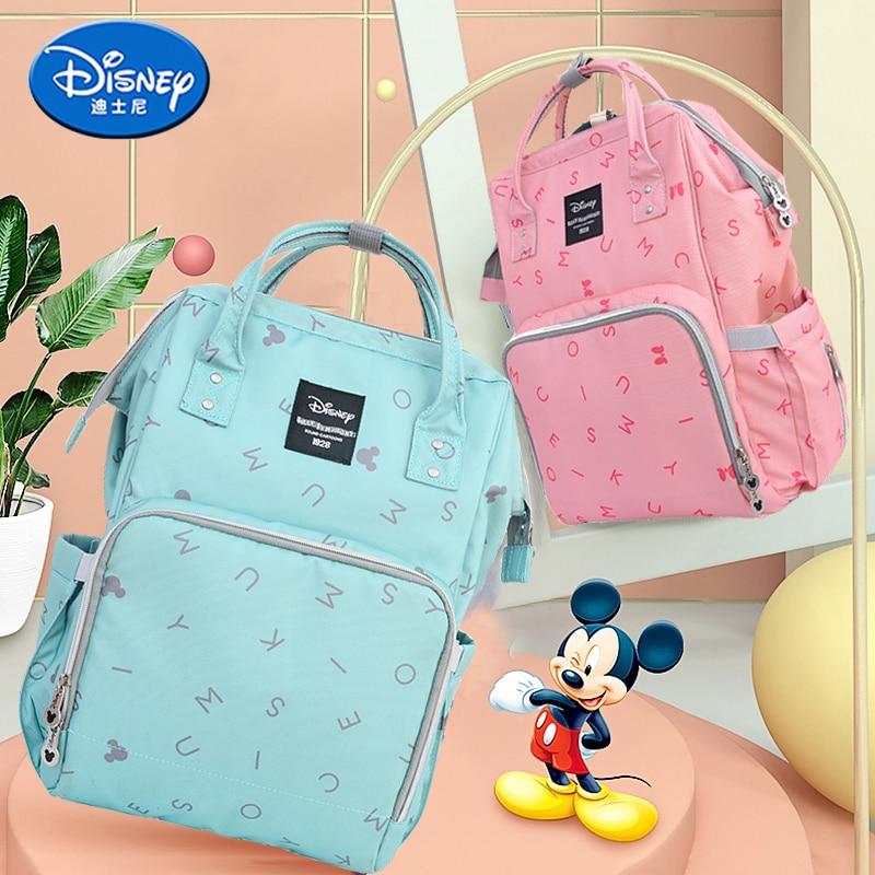 Genuine Disney Bag Fashion Mummy Bag Backpack Oxford Nappy Maternity Bag For Baby Care Mickey Minnie Diaper Knapsack Handbags