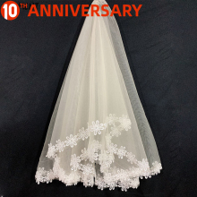 OLLYMURS New 2019 Cathedral Wedding Veil Lace Edge One-layer 150cm  Shoulder Length Veil Wedding Accessories