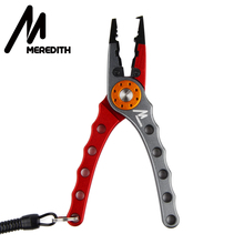 MEREDITH Multi-Function Stainless Steel Pliers Scissors Fishing Line Cutter Remove the hook Equipment Fishing Tool стоимость