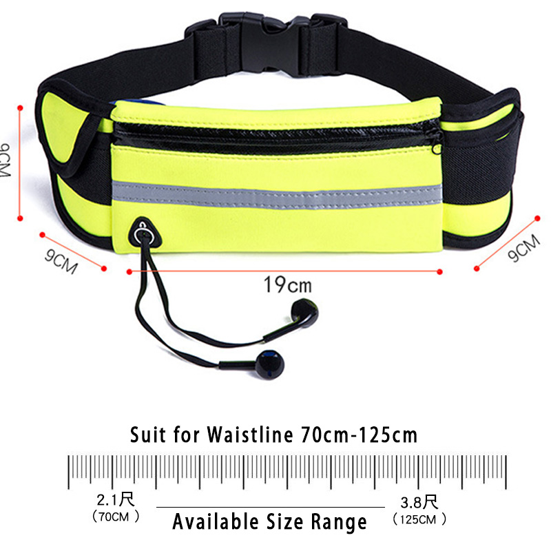 Image 2 - Running Belt Waist Phone Bag Running Bags Sport Pocket Jogging Pack Phone Pouch Wallet With Bottle Holder Anti theft aonijie-in Running Bags from Sports & Entertainment