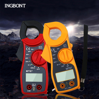 INGBONT High Precision AC/DC Current Digital Clamp Multimeter Resistance Electrical Ammeter Transistor Tester Contact Voltmeter new digital current clamp ammeter ac dc voltmeter tester vc3266 electrical multimeter clamp firewire identify mini meter clamp