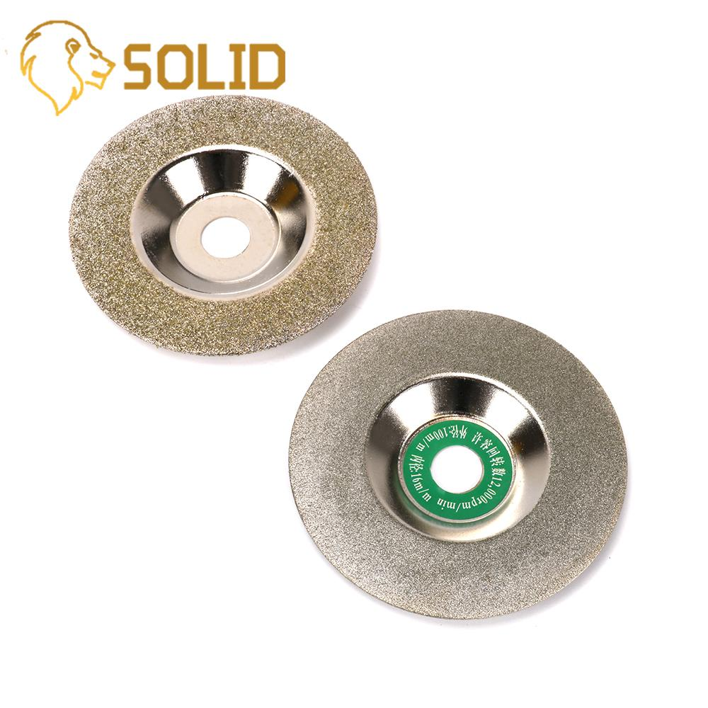 Diamond Grinding Disc 100mm Bowl Type Cut Off Discs Wheel Glass Cuttering Saw Blades Rotary Abrasive Tools 50/150# 2Pcs/Set