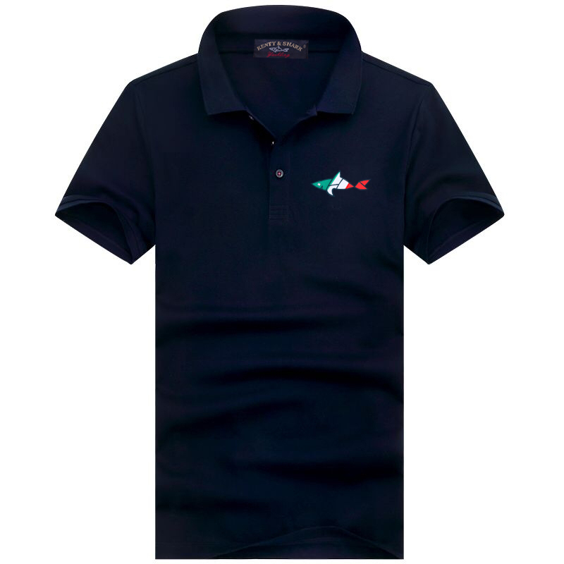 Smart Casual Man Polo Shirt Yachting Solid Color Zipper 100% Cotton Summer Short Sleeve Business Polo Shirts Men 3XL