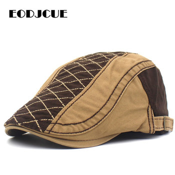 New Fashion Summer Berets Caps For Men Casual Peaked embroidery Retro Hats Dad Hat Casquette Cap