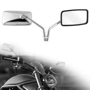 Image 3 - DERI 1 Đa Năng Hình Chữ Nhật Nhôm Moto Rcycle Gương Chiếu Hậu 10Mm Chrome Retrovisor De Moto Gương Moto Cho Xe Honda