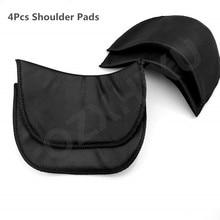 2 pares negro suave acolchado hombro acolchado cifrado espuma hombreras para Blazer camiseta accesorios de costura para ropa ACC43-2