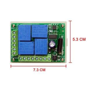 Image 3 - QIACHIP Interruptor de Control remoto inalámbrico Universal, 433Mhz, DC12V, 4CH, módulo receptor por relé, transmisor, bricolaje, motor LED, puerta de garaje