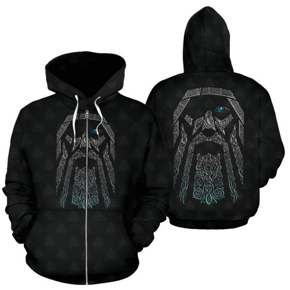 Odin (Wutan) - Valhalla Zip-Up Hoodie2