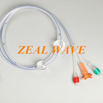 Three Cavities And Two Capsules Gastric Tube For Single Use Double Balloon Catheter Anti-Aspiration Gastric Tube