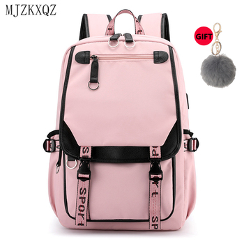 Mjzkxqz Canvas Backpack For School Teenage Girls Bags Multi-Pocket Women Travel Backpack Mochila Female Shoulder Bag Pure Color 1