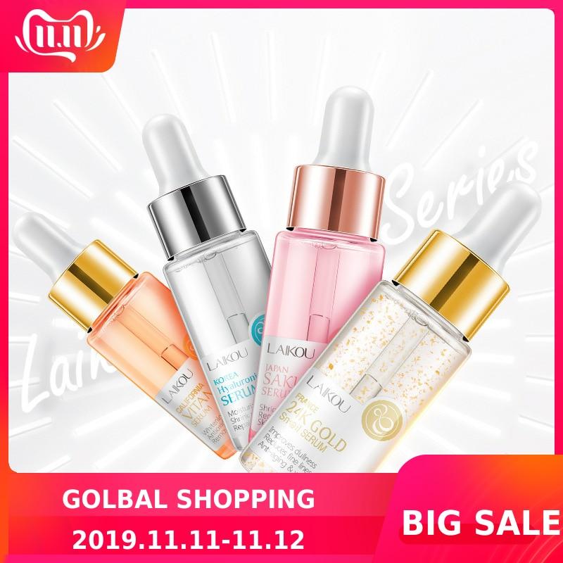 LAIKOU Sakura Face Serum Japan Skin Care Shrink Pores Remove Acne Liquid Moisturizing Face Essence Brighten Skin Serum