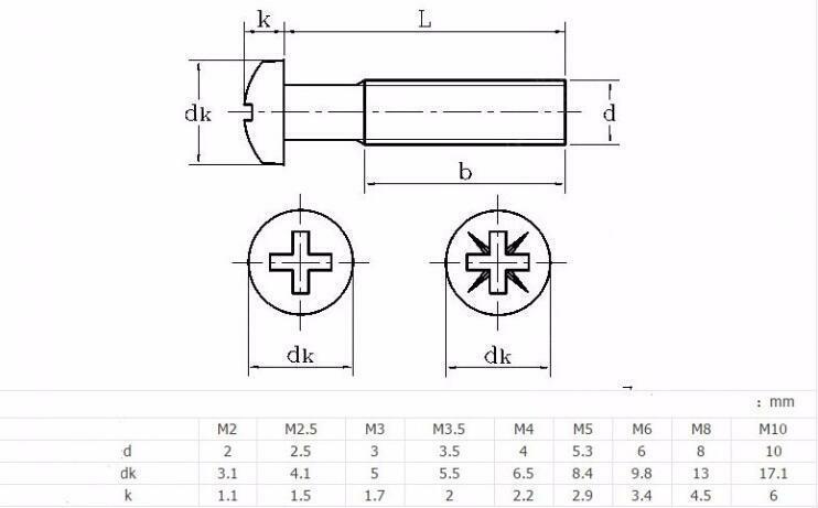 10 20 шт m3 3 80 мм 304 Нержавеющая сталь крест круглый головка