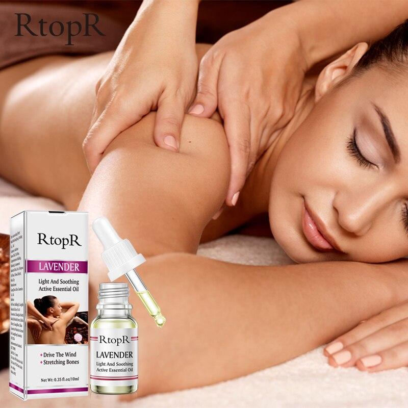 RtopR Skin Care Pure Plant Lavender Essential Oil Skin Anti-Aging Body Massage Oil Ginger Essential Oil For Scrape Therapy SPA 3