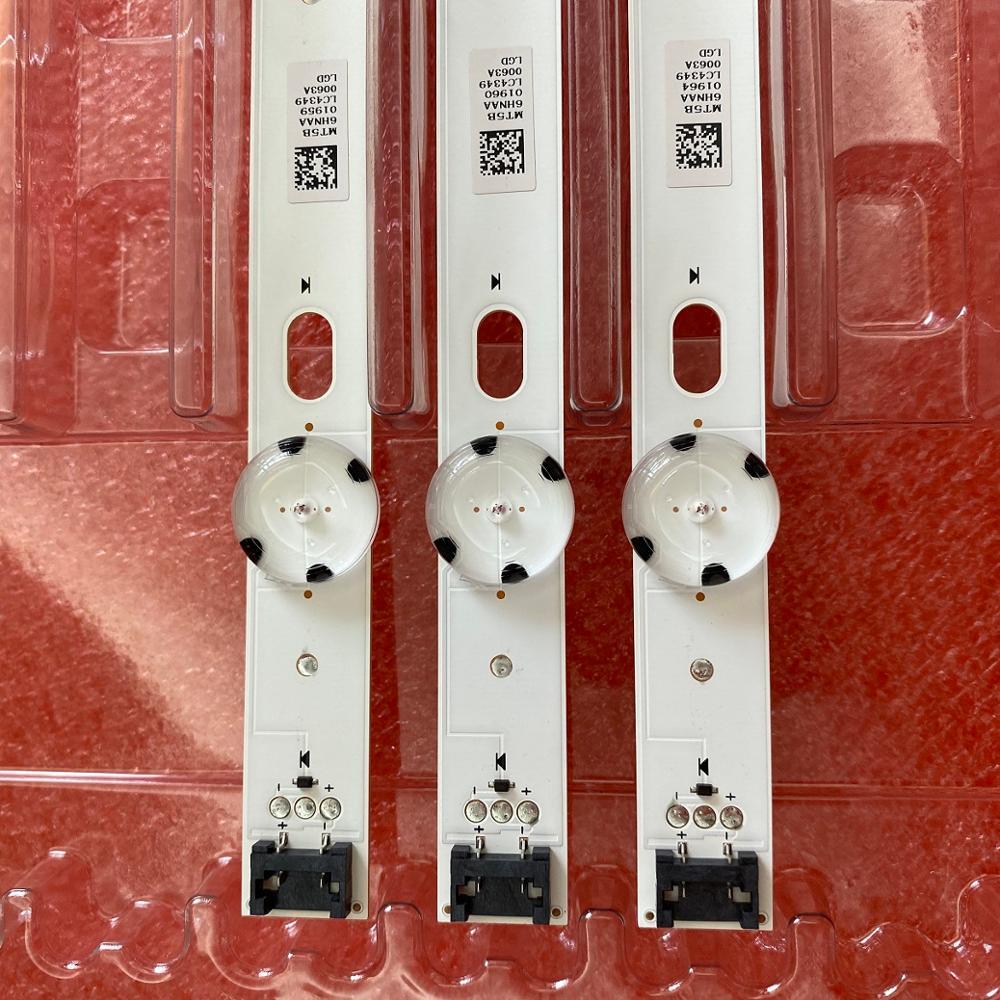 3pcs 7LED tira retroiluminação LED para LG 43UJ651V 43UJ675V 43LJ624V 43LJ634V 43UJ701V 43UJ65_UHD_L EAU63673004 innotek 17Y 43inch_A