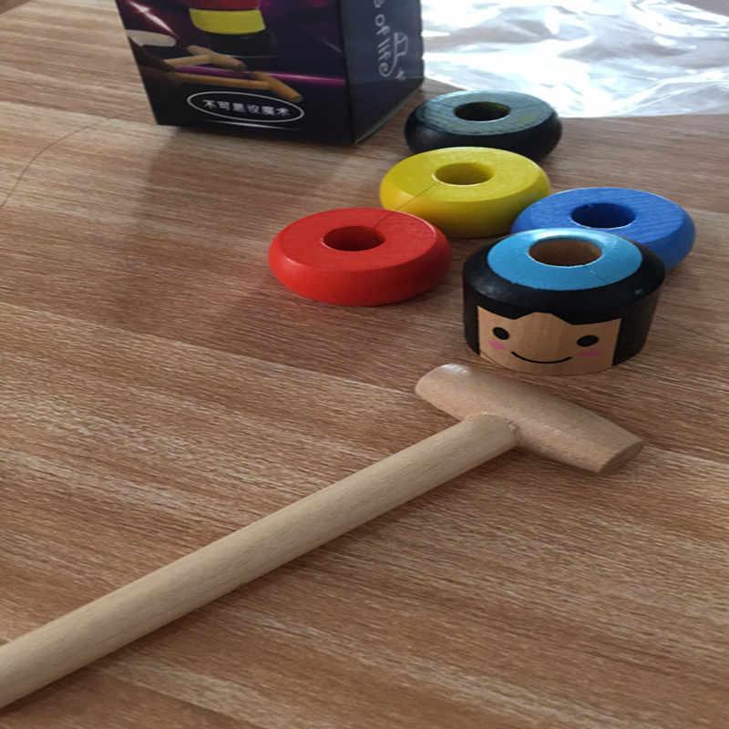 1 قطعة الخالد غير قابلة للكسر رجل خشبية لعبة سحرية الخدع السحرية قرب مرحلة السحر الدعائم الكوميديا Mentalism ألعاب ترفيهية للأطفال