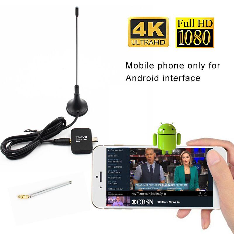 DVB-T2 HD récepteur de télévision numérique récepteur Satellite tablette tablette TV HDTV Dongle avec Micro USB pour téléphone portable Android et vidéo ipad