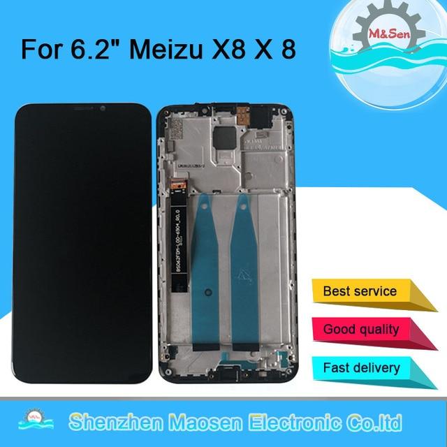 "6.2""Original M&Sen For Meizu X8 M852H LCD Screen Display Frame+Touch Screen Panel Digitizer For 2220*1080 Meizu X8 X 8 Display"