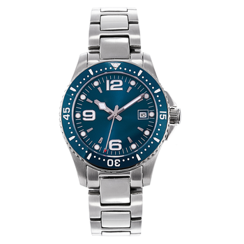 Top Brand PHYLIDA Sapphire Crystal Men's Blue Watch Automatic Self-Winding Movement 40mm Wristwatch With Date Classic Conquest - discount item  40% OFF Men's Watches