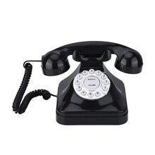 Винтажный телефон Многофункциональный пластиковый домашний телефон Ретро старомодный телефон проводной стационарный телефон офисный домашний телефон стол деко