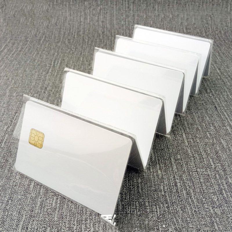 (10 Pcs/lot) SLE 4428 PVC Blank Card Contact IC Smart Card LX9A
