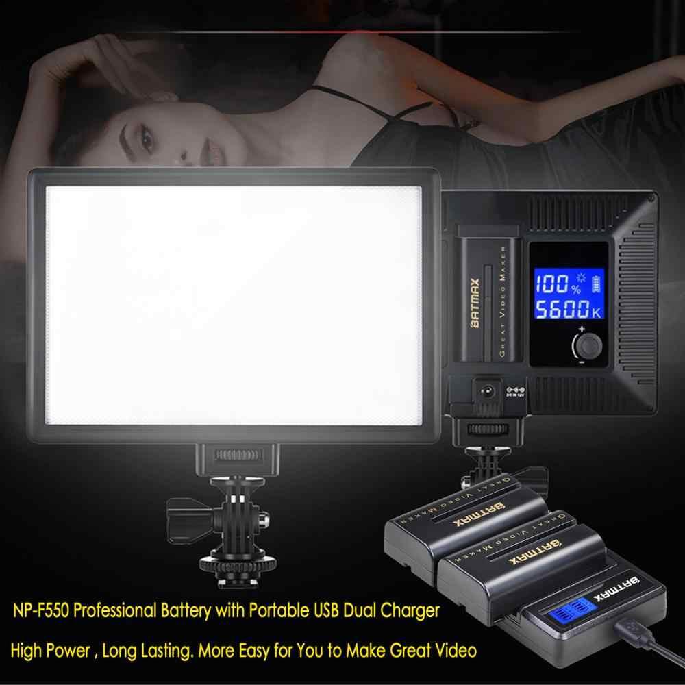 Batmax NP-F550 NP F550 F570 Batteria + LCD USB Caricatore Doppio per Yongnuo Viltrox LED Luce Video YN300 II YN300 III YN600 Aria T119S