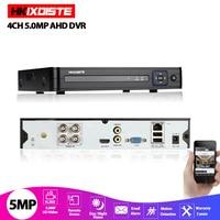 AHD DVR 4 Channel 8 Channel H.265 5MP 4MP Hybrid Video Recorder CCTV AHD CVI TVI Analog IP Security 1080P DVR NVR 4CH 8CH
